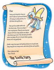 Tooth Fairy Letter - Pediatric Dentist in Memphis, TN